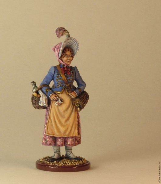 """Миниатюрные модели ручной работы. Ярмарка Мастеров - ручная работа. Купить """"Маркитантка"""" Франция. Оловянная миниатюра. 54 мм.. Handmade."""