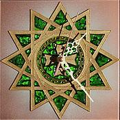 """Для дома и интерьера ручной работы. Ярмарка Мастеров - ручная работа Часы """"Звезда Эрцгаммы"""". Handmade."""
