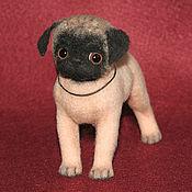 Куклы и игрушки ручной работы. Ярмарка Мастеров - ручная работа Мопс Джесси (собака игрушка). Handmade.
