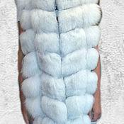 Одежда ручной работы. Ярмарка Мастеров - ручная работа Песцовый жилет, ромбы.. Handmade.
