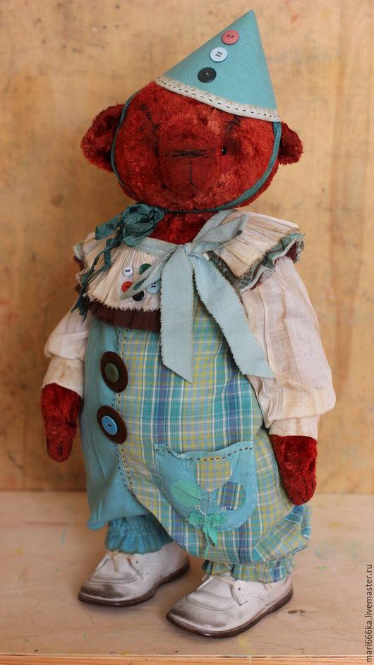 Мишки Тедди ручной работы. Ярмарка Мастеров - ручная работа. Купить Клоун Тим.. Handmade. Бордовый, клоун
