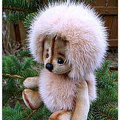 Куклы и игрушки ручной работы. Ярмарка Мастеров - ручная работа Норковый Ежик тедди - Пыльная Роза.. Handmade.