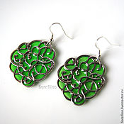 Украшения handmade. Livemaster - original item Granny Smith earrings emerald green green grass forest. Handmade.