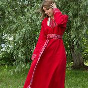 """Одежда ручной работы. Ярмарка Мастеров - ручная работа Платье """"Берегиня"""" красное. Handmade."""
