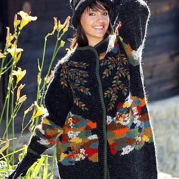 """Одежда ручной работы. Ярмарка Мастеров - ручная работа Sirogojno style жакет """"Красоты Сербии"""", модель 3651. Handmade."""