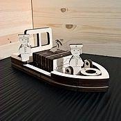 Техника, роботы, транспорт ручной работы. Ярмарка Мастеров - ручная работа Корабль + портовый кран. Игровой набор. Handmade.