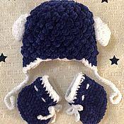 Работы для детей, ручной работы. Ярмарка Мастеров - ручная работа Шапочка и пинетки комплект для новорождённого. Handmade.