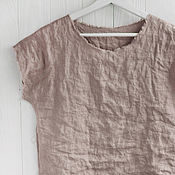 Одежда handmade. Livemaster - original item Beige blouse made of 100% linen. Handmade.