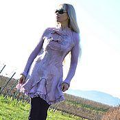 """Одежда ручной работы. Ярмарка Мастеров - ручная работа валяное авторское платье """" Розовый жемчуг2"""". Handmade."""