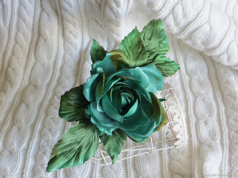 Брошь роза. Цветочное украшение, Брошь-булавка, Москва,  Фото №1