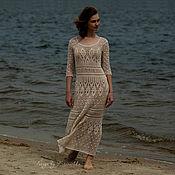 """Одежда ручной работы. Ярмарка Мастеров - ручная работа Макси платье крючком """"Вечерний бриз"""" от Кринички. Handmade."""
