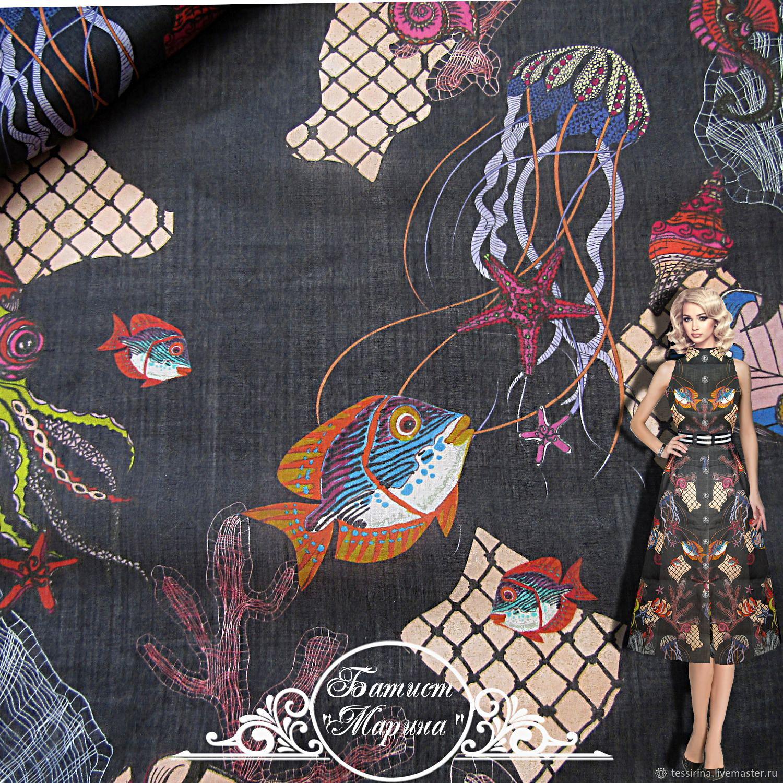 "Батист Miu Miu ""Марина"" итальянские ткани, Fabric, Sochi,  Фото №1"