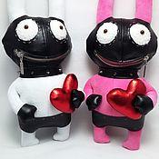 Куклы и игрушки handmade. Livemaster - original item Soft toy plush Bunny bdsm, white rabbit toy. Handmade.