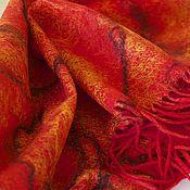 Аксессуары ручной работы. Ярмарка Мастеров - ручная работа шарф-палантин валяный. Handmade.