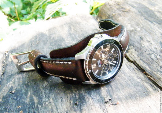 Часы ручной работы. Ярмарка Мастеров - ручная работа. Купить Ретро ремешок для часов. Handmade. Коричневый, ремешки для часов