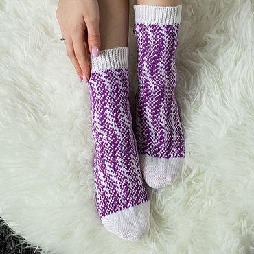 Одежда ручной работы. Ярмарка Мастеров - ручная работа Вязаные носки ручной работы. Handmade.