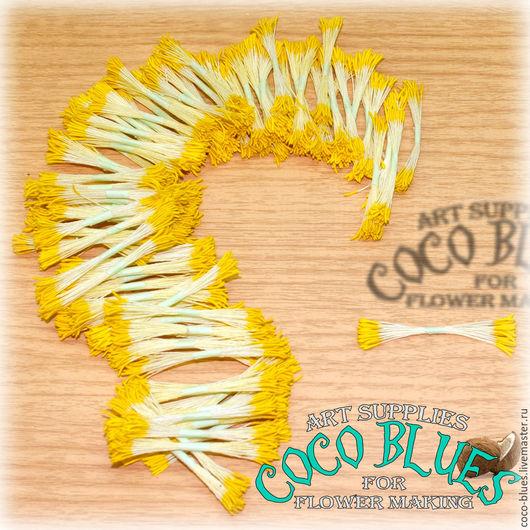 Тычинки с удлиненными желтыми головками Тайские тычинки очень хорошего качества.   `Кокосов Блюз` Таиланд  © Coco Blues (Thailand) Co. Ltd