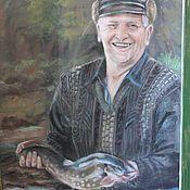 Картины и панно ручной работы. Ярмарка Мастеров - ручная работа Мужской портрет по фото. Handmade.