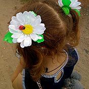Заколки ручной работы. Ярмарка Мастеров - ручная работа Резинки-канзаши для волос из атласныхи репсовых лент. Handmade.