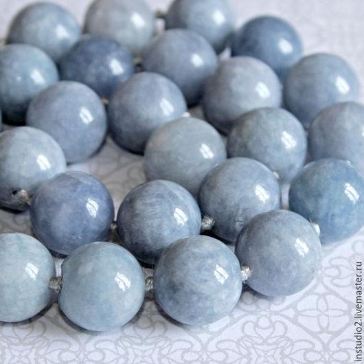 Для украшений ручной работы. Ярмарка Мастеров - ручная работа. Купить Кальцит голубой 14 мм шар гладкий - бусины камни для украшений. Handmade.