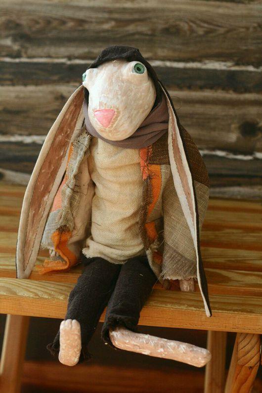 Коллекционные куклы ручной работы. Ярмарка Мастеров - ручная работа. Купить Заяц Веня. Handmade. Кукла ручной работы, хипстер