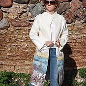 Одежда ручной работы. Ярмарка Мастеров - ручная работа Валяное весенее - летнее пальто. Handmade.
