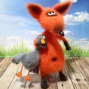 Куклы и игрушки handmade. Livemaster - original item The Fox and goose. Handmade.