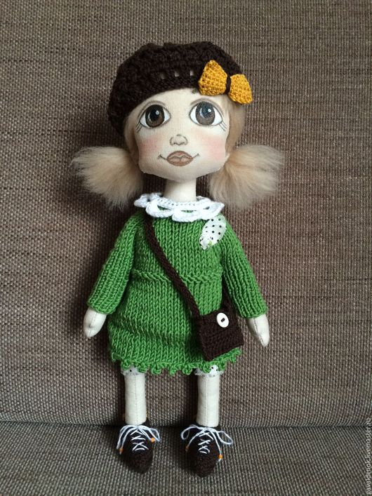 Коллекционные куклы ручной работы. Ярмарка Мастеров - ручная работа. Купить Эни. Текстильная кукла ручной работы. Handmade. Кукла