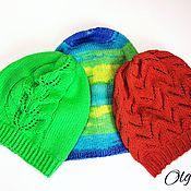 Детские вязаные шапки в ассортименте