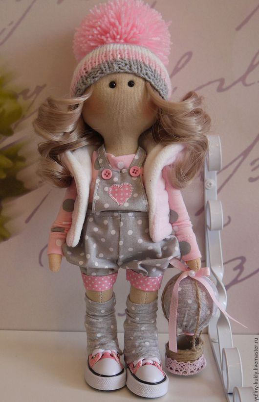 Коллекционные куклы ручной работы. Ярмарка Мастеров - ручная работа. Купить Текстильная куколка-малышка Лидочка. Handmade. Розовый