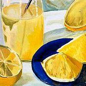 Картины и панно ручной работы. Ярмарка Мастеров - ручная работа Абахзские лимоны 30х40. Handmade.
