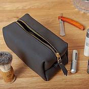 Сумки и аксессуары handmade. Livemaster - original item Genuine leather dressing case ` Blackout`. Handmade.