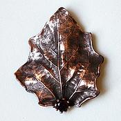 """Украшения ручной работы. Ярмарка Мастеров - ручная работа Брошь """"Сумерки"""", брошь с гранатом, осень, листья, подарок. Handmade."""