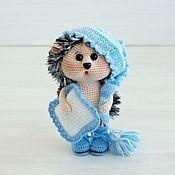 Куклы и игрушки handmade. Livemaster - original item Knitted interior toy-owl in the blue cap. Handmade.