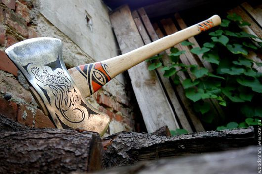 Винтажные сувениры. Ярмарка Мастеров - ручная работа. Купить Винтажный, кастомизированный топор Craftsman Double Bit Cruiser Axe. Handmade.