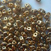 Материалы для творчества ручной работы. Ярмарка Мастеров - ручная работа Бисер чешский Mini-Duo 2x4mm золото. Handmade.