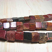 Материалы для творчества handmade. Livemaster - original item Picasso Jasper, 9 mm, square, cube. Handmade.