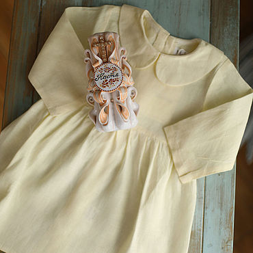 Товары для малышей ручной работы. Ярмарка Мастеров - ручная работа Платье для девочки: Платье Мира для крещения белое. Handmade.