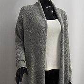 Одежда handmade. Livemaster - original item Knitted cardigan with sequins. Handmade.