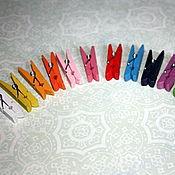 Сувениры и подарки handmade. Livemaster - original item Colored mini clothespins. Handmade.