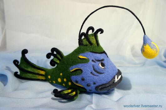Игрушки животные, ручной работы. Ярмарка Мастеров - ручная работа. Купить Рыба-удильщик по имени Сильвер. Handmade. Рыба-удильщик