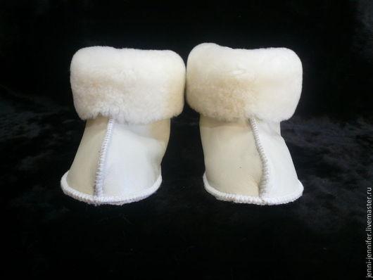 Обувь ручной работы. Ярмарка Мастеров - ручная работа. Купить Детская домашняя обувь Белая ОВЕЧКА. Handmade. Белый, дети