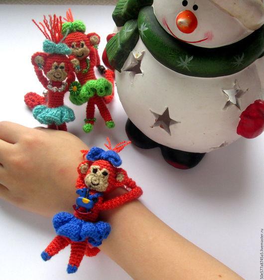 """Детская бижутерия ручной работы. Ярмарка Мастеров - ручная работа. Купить Браслет игрушка """"Год обезьяны"""". Handmade. Рыжий, браслет"""