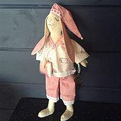 """Куклы и игрушки ручной работы. Ярмарка Мастеров - ручная работа Зайка """"Время Спать"""". Handmade."""