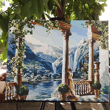 """Картины и панно ручной работы. Ярмарка Мастеров - ручная работа Картина: """"Девушка у водопада"""". Handmade."""