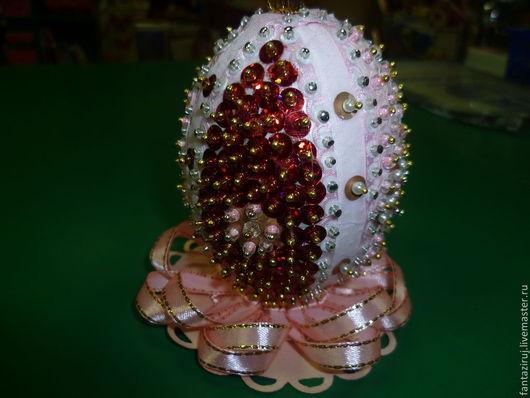 Подарки на Пасху ручной работы. Ярмарка Мастеров - ручная работа. Купить Пасхальное яйцо сувенирное. Handmade. Разноцветный, пайетки