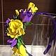 Диадемы, обручи ручной работы. Ярмарка Мастеров - ручная работа. Купить Ободок из цветов. Handmade. Ободок с цветами