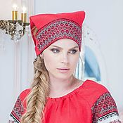 Русский стиль handmade. Livemaster - original item Forty red. Handmade.