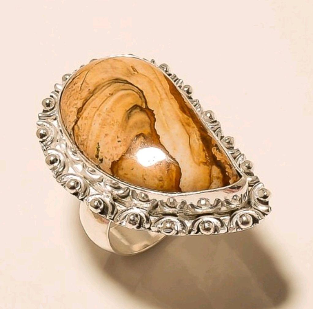 Ring vintage style silver 925 with genuine Jasper, Rings, Krasnodar,  Фото №1