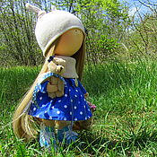Куклы и игрушки ручной работы. Ярмарка Мастеров - ручная работа Кукла интерьерная. Интерьерная кукла. Лили и медвежонок. Handmade.